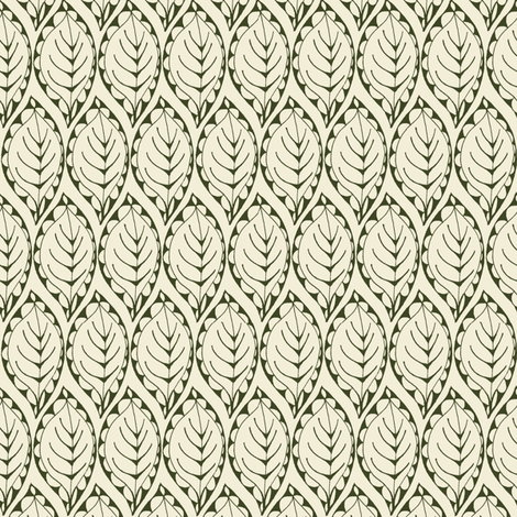 Beady Leaf fabric by wednesdaysgirl on Spoonflower - custom fabric