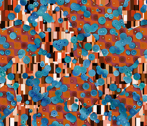 Klimtified! - Turquoise/Copper fabric by bonnie_phantasm on Spoonflower - custom fabric
