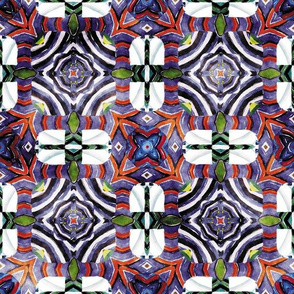 Flowery Incan Mosaics In Watercolors 18