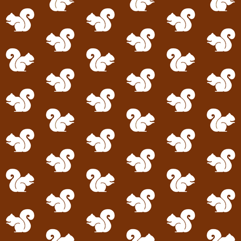 Brown Squirrel fabric by sufficiency on Spoonflower - custom fabric