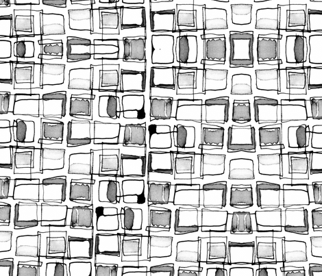 Retro squares fabric by musterartig on Spoonflower - custom fabric