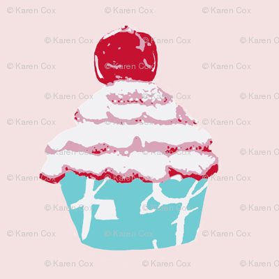 A Cupcake with a cherry on top