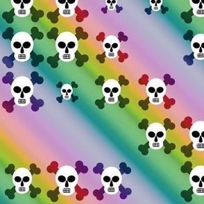 Rainbow of skulls