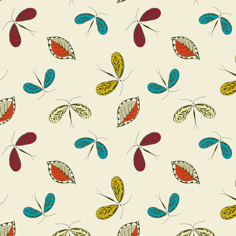 Beady's Moth fabric by wednesdaysgirl on Spoonflower - custom fabric