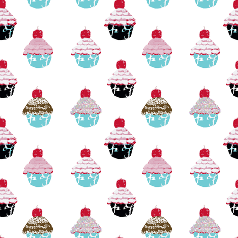 Have a cupcake fabric by karenharveycox on Spoonflower - custom fabric