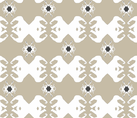 elephant_donkey_grey_2 fabric by thehouseoflulla_ on Spoonflower - custom fabric