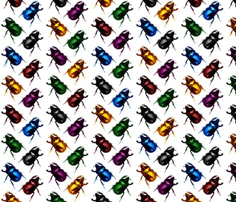 Jewel & Black Beetles fabric by pond_ripple on Spoonflower - custom fabric