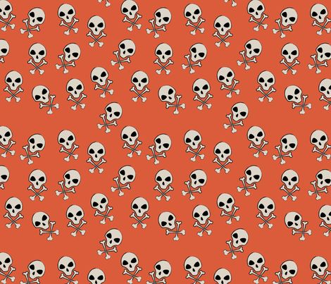 Dandy Skulls fabric by thecalvarium on Spoonflower - custom fabric