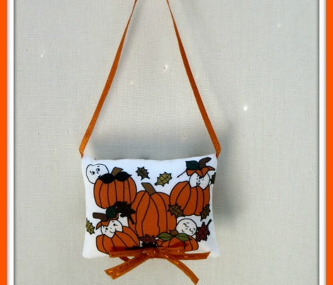 Babies In The Pumpkin Patch With Leaves and Pumpkins - Smaller Fabric