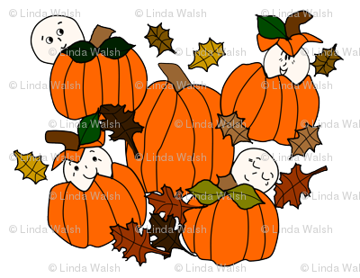Babies In The Pumpkin Patch - Smaller