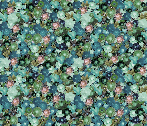 Millefiori ,watercolor fabric by koalalady on Spoonflower - custom fabric