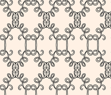 Interlocking Doodle Noodles fabric by boris_thumbkin on Spoonflower - custom fabric