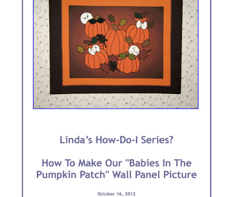 Babies In The Pumpkin Patch Large Wall Art