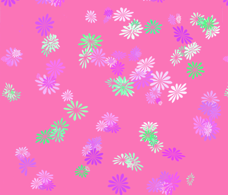 pink_floral fabric by mammajamma on Spoonflower - custom fabric