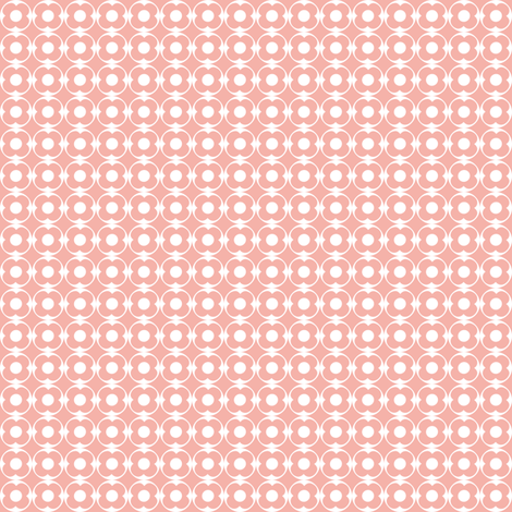Wake Up Call - Pink Flower Dot fabric by ttoz on Spoonflower - custom fabric