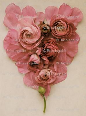 pink petal heart
