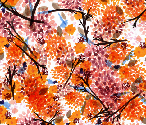 Autumn Floral fabric by joylaforme on Spoonflower - custom fabric