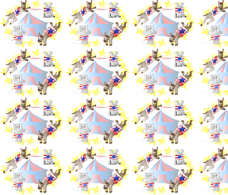 Political_Circus fabric by jensmi on Spoonflower - custom fabric