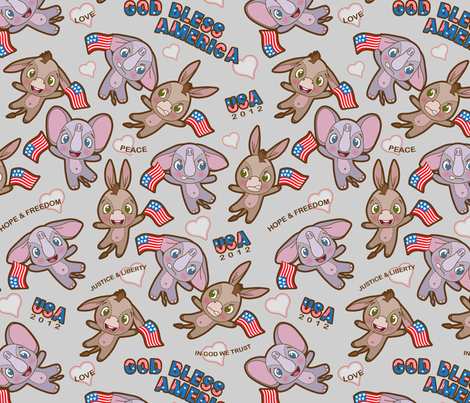 2012 US Elections fabric by woodmouse&bobbit on Spoonflower - custom fabric