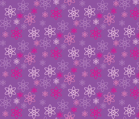 Atomic Science (Purple) fabric by robyriker on Spoonflower - custom fabric