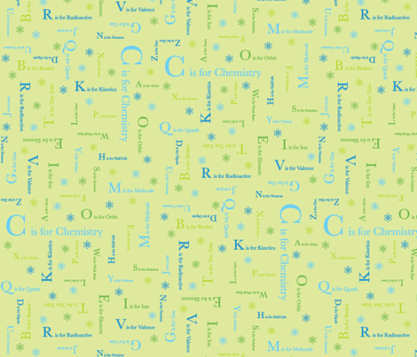 C is for Chemistry (Lime Green) fabric by robyriker on Spoonflower - custom fabric