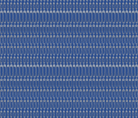 blue_solid_silver_pins fabric by atomic_bloom on Spoonflower - custom fabric