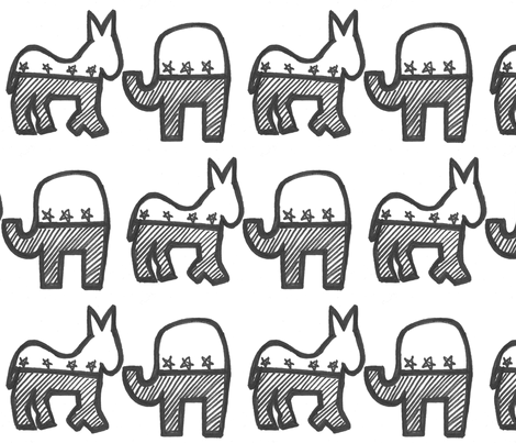 donkeyandelephant fabric by yarnmoth on Spoonflower - custom fabric