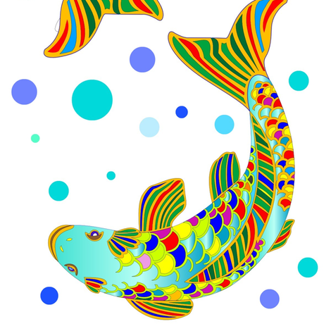 koi_copy-ed-ed fabric by dana_zurzolo on Spoonflower - custom fabric