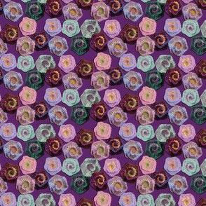 Crocheted Spiral Flowers