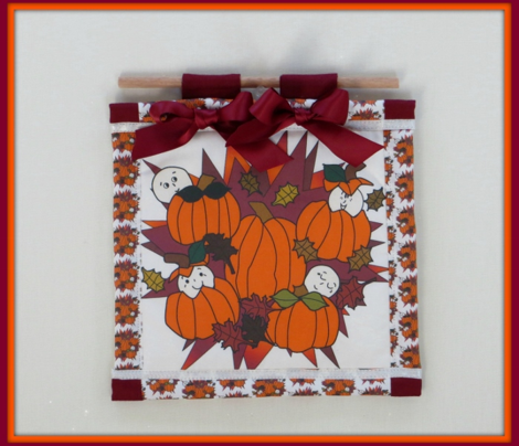 Babies In The Pumpkin Patch - Large Fabric