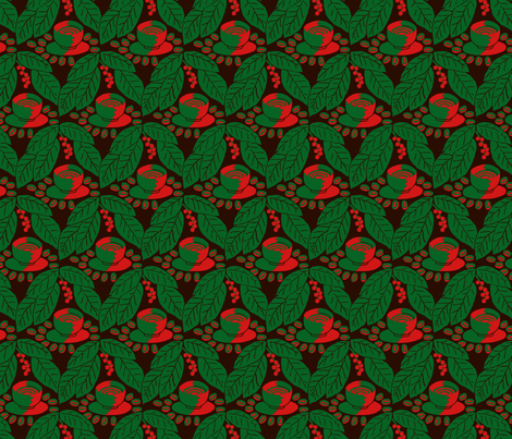 Christmas coffee fabric by zandloopster on Spoonflower - custom fabric