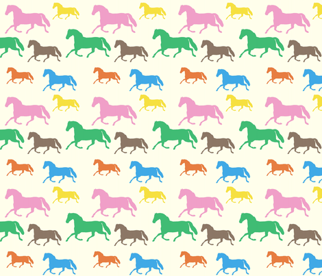 multisizetrottingmulticolor fabric by ragan on Spoonflower - custom fabric