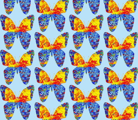 Circus Butterflies  fabric by anniedeb on Spoonflower - custom fabric