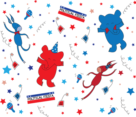 POLITICALFIESTA fabric by sammio17 on Spoonflower - custom fabric