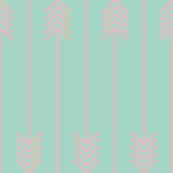 baby pink arrows flip flop on mint