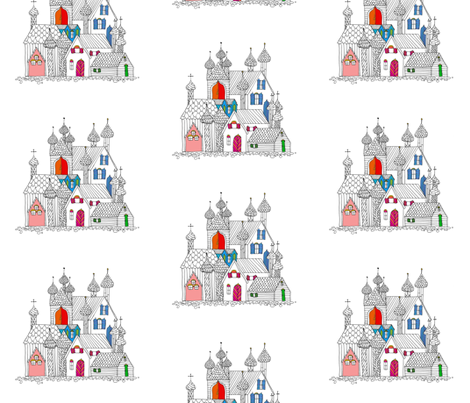 village fabric by randomarticle on Spoonflower - custom fabric