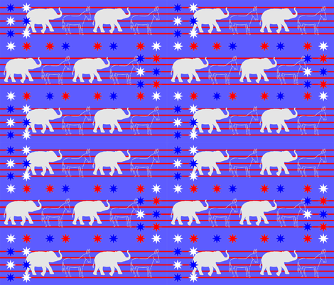 Political_Donkeys_and_Elephants fabric by rachd on Spoonflower - custom fabric