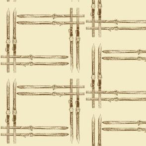small square ski design by Diane Gilbert