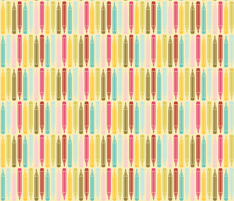 just_pencils_multi fabric by natasha_k_ on Spoonflower - custom fabric