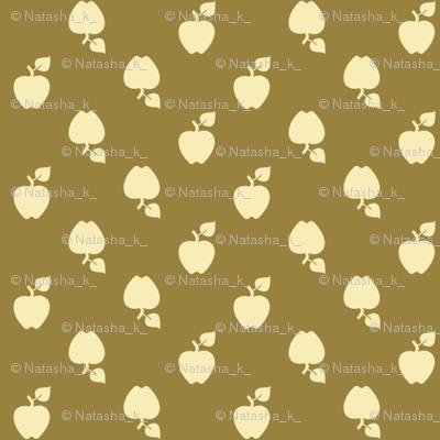 Polka_Apples_Dark_green