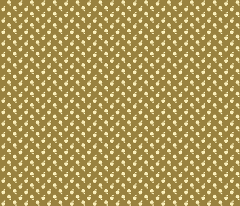 Polka_Apples_Dark_green fabric by natasha_k_ on Spoonflower - custom fabric