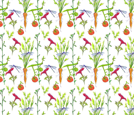 Vegetable Garden fabric by countrygarden on Spoonflower - custom fabric