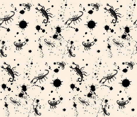 Ink Blot Scorpions fabric by paragonstudios on Spoonflower - custom fabric