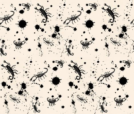 Ink Blot Scorpions fabric by paragonstudios on Spoonflower - custom fabric