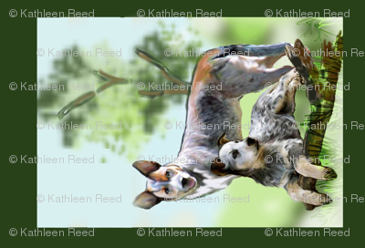 Australian Cattledog Yard Flag Fabric