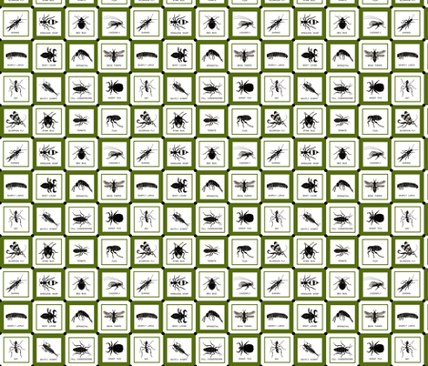 Checkerbugs fabric by sufficiency on Spoonflower - custom fabric