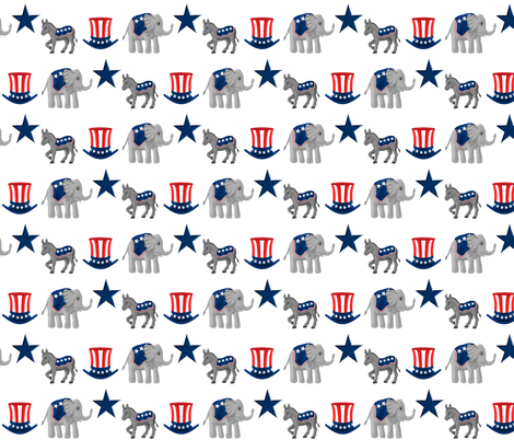 animal_politics 2012 white fabric by mejo on Spoonflower - custom fabric
