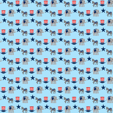 animal_politics 2012 fabric by mejo on Spoonflower - custom fabric