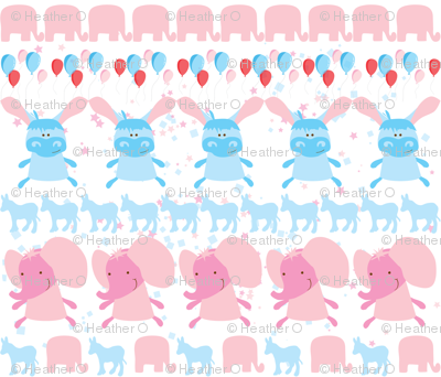 Elephant and Donkey Party