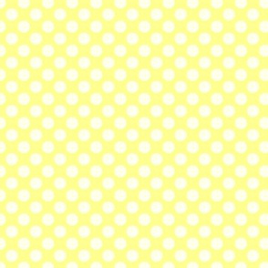 White on Yellow Polka Dots